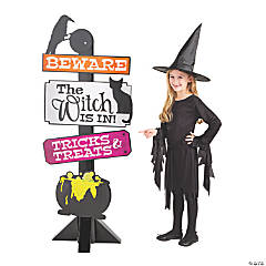 Witch's Brew Halloween Directional Sign