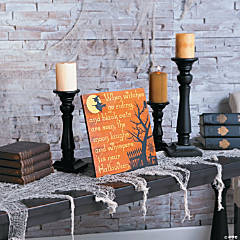 Witches Go Riding Tabletop Sign Halloween Decoration