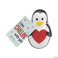 Wobble Penguins with Valentine's Day Card