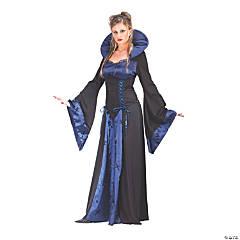 Women's Blue & Black Vampiress Costume - Small/Medium