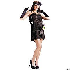 Women's Bootleg Baby Flapper Costume - Medium/Large