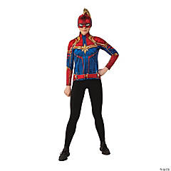 Women S Superhero Costumes Oriental Trading Company The plus size costume includes a black and blue jumpsuit with a silver star on the chest. women s superhero costumes oriental