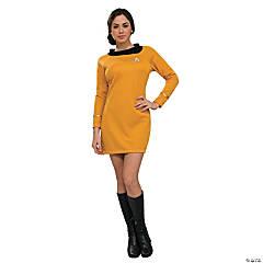 Women's Classic Star Trek™ Uniform Gold Dress Costume - Small