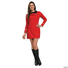 Women's Classic Star Trek™ Uniform Red Dress Costume - Extra Small