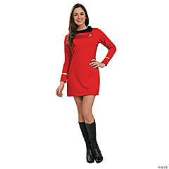 Women's Classic Star Trek™ Uniform Red Dress Costume - Medium