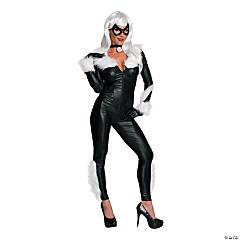 Women's Economy Black Cat Costume - Large