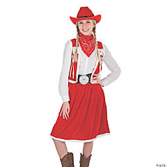 Women's Petite Western Mrs. Claus Costume