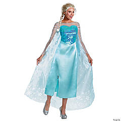 Women's Plus Size Deluxe Frozen™ Elsa Costume - XXL