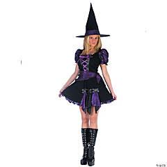 Women's Purple Punk Witch Costume - Medium/Large