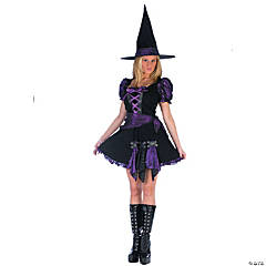 Women's Purple Punk Witch Costume - Small/Medium