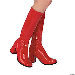 Women's Red Go-Go Boots - Large