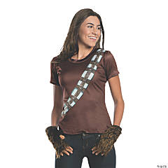 Women's Rhinestone Chewbacca Costume T-Shirt - Large