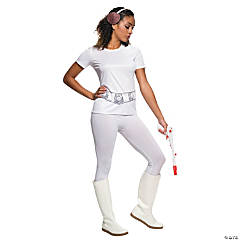 Women's Rhinestone Princess Leia Costume T-Shirt - Small