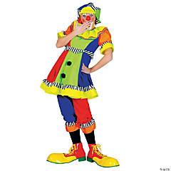 Women's Spanky Stripes Clown Costume
