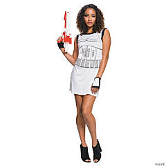 Women's Stormtrooper Rhinestone Tank Dress Costume - Medium