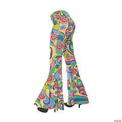 Women's 70's Flower Bell Bottom Pants - Extra Large