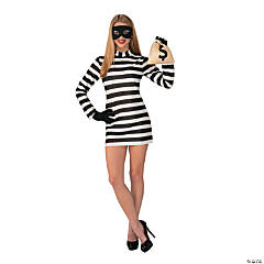 Women's Burglar Babe Costume - Large