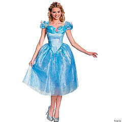 Women's Deluxe Cinderella Movie Costume - Extra Small