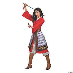Women's Deluxe Mulan Hero Red Dress Costume - Medium