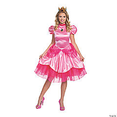 Women's Deluxe Princess Peach Costume - Extra Large
