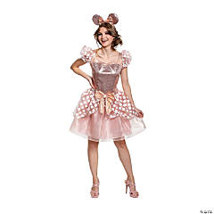 Women's Deluxe Rose Gold Minnie Costume