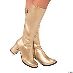 Women's Gold Go-Go Boots - Large