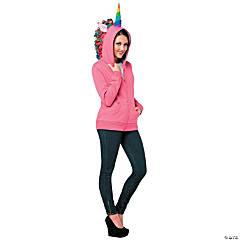 Women's Pink Unicorn Hoodie Costume - Large