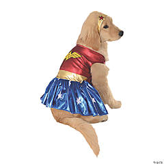 Wonder Woman Dog Costume - Large