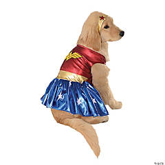 Wonder Woman Dog Costume - Medium