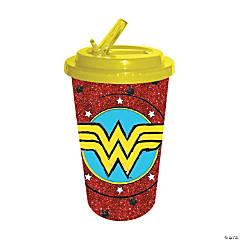 Wonder Woman™ Glitter Flip Straw Cold Cups
