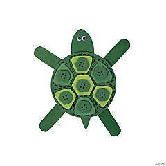 Wood And Foam Mosaic Turtle Magnet Craft Kit