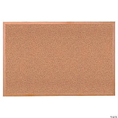 "Wood Frame Natural Corkboard, 24"" X 36"""