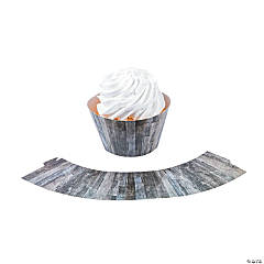 Wood Grain Cupcake Wrappers