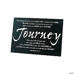 Wood Journey Tabletop Graduation Plaque