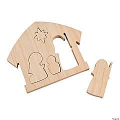 Wood Nesting Nativity Puzzles
