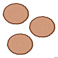 Wood Slice Bulletin Board Cutouts
