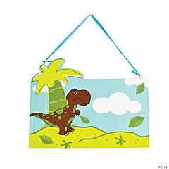 Wood That's How We Rawr T-Rexcellent Dinosaur Personalized Door Sign