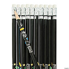 Wooden Black & White Pencils - 24 Pc.
