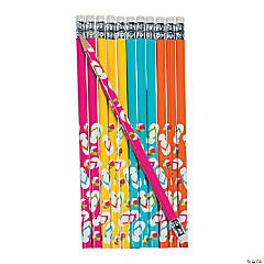 Wooden Flip Flop Pencils - 24 Pc.