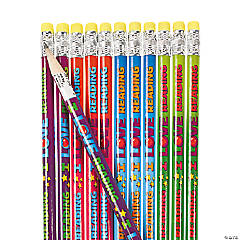 "Wooden ""I Love Reading"" Pencils - 24 Pc."
