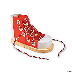 Wooden Lacing Shoe, Set of 2