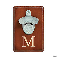 Wooden Monogrammed Wall Mount Bottle Opener