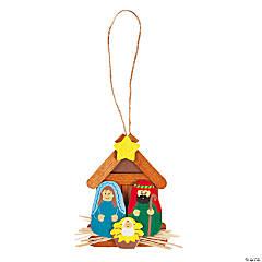 Wooden Nativity Christmas Ornament Craft Kit