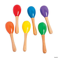 Wooden Painted Maracas