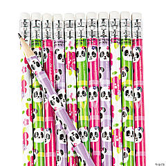 Wooden Panda Party Pencils