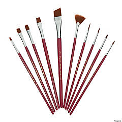 Wooden Plaid® Brown Nylon Paint Brushes