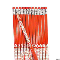 Wooden Red Paw Pride Personalized Pencils - 24 Pc.
