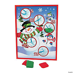 Wooden Snowman Toss Game