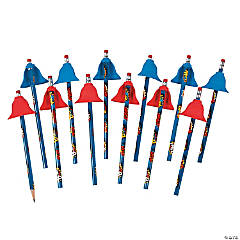 Wooden Superhero Pencils with Capes