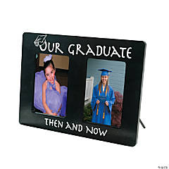 Wooden Then And Now Graduation Picture Frame